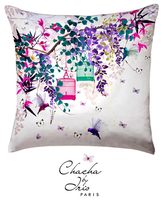 id e cadeau d co original un coussin chacha by iris po tique. Black Bedroom Furniture Sets. Home Design Ideas