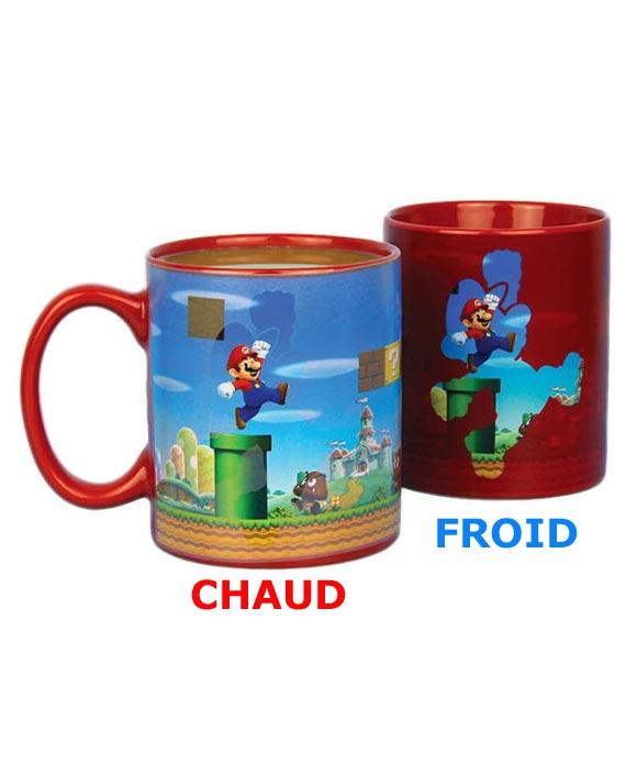 Mario Réactif Bros Mug Mug Thermo Thermo Réactif xrCBode